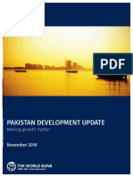 109961 WP PUBLIC Disclosed 11-9-16 5 Pm Pakistan Development Update Fall 2016 With Compressed Pics