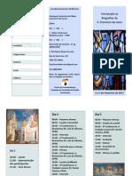 Folheto Curso Franciscanismo