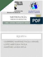 Metrología Error de Medición