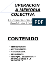Recuperacion de La Memoria Colectiva