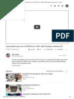 (40) ¿Qué Podías Hacer Con Un PORTÁTIL en 1996_ _ IBM Thinkpad y Windows 95 - YouTube