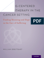 William S. Breitbart - Meaning-centered Psychotherapy in the Cancer Setting _ Finding Meaning and Hope in the Face of Suffering (2017, Oxford University Press)