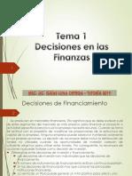 Tema 1 - Decisiones Financieras