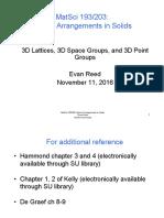 10 3D Lattices Groups