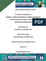Evidencia 3 Ejercicio Periodistico Normas Nacionales e Internacionales Que Rigen La Clasificacion Arancelaria de Mercancias-convertido