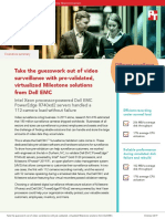 Take the guesswork out of video surveillance with pre-validated, virtualized Milestone solutions from Dell EMC - Summary