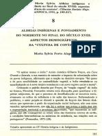 Aldeias Indígenas e Povoamento Do Nordeste No Final Do Século Xviii. Alegre, Maria Sylvia Porto. 1993