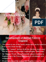 Development of Sonnet Form in England 2
