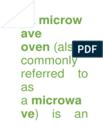 Microwaves Ovens