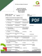 Examen Geografía 5°