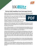 Tax Blitz 15_DJP Simplifikasi Surat Keterangan Domisili