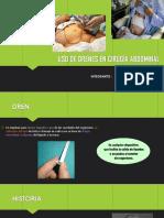 Uso de Drenes en Cirugía Abdominal 2 . Seminario Grupo a13