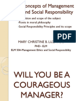 Luzande, Mary Christine B ELM-504 - Basic Concepts of Management Ethics and Social Responsibility