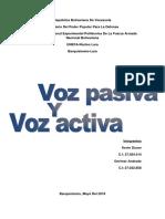 Ingles Voz Pasiva y Activ