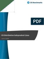 CIS Distribution Independent Linux Benchmark v2.0.0