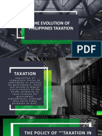 The Evolution of Phil Taxation