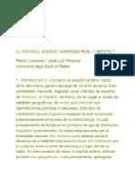 Caravedo y Rivarola - El Español Andino, Variedad Real o Mental