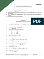 Cbse Math Paper 2002