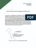 Oficio de Cancelacion Procedimeinto CFE 0112 CACON 0161 2019