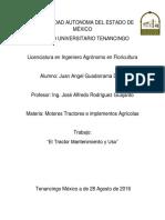 El Tractor Su Mantenimiento y Uso Agosto