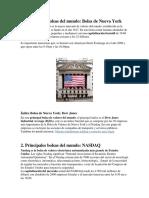 Principales Bolsas Del Mundo