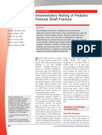 Intramedullary Nailing of Pediatric Femoral Shaft Fracture
