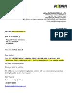 Kabra Extrusion Technik Ltd - Revisd Special Offer for KET 382 (SP) 070819