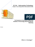 If-116 Module 2 - The Strategic Role of Is