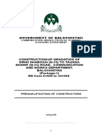 Pre Qualification Document for Building Project