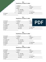 Despariea cuvintleor in silabe