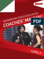 BWF Coach Manual Level 2 English