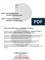 Intro to ML