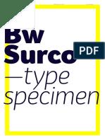 Bw Surco Font Specimen