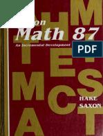 Math 87 Mathematics 8_7 Textbook an Incremental Development Stephen Hake John Saxon ( PDFDrive.com )