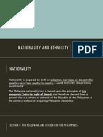1 Nationality and Ethnicity