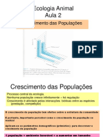 Ecologia Animal-Aula 4 -2019 Crescimento de Populacoes (1)