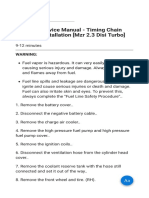 Mazda 3 Service Manual - Timing Chain Removal_Installation Mzr 2.3 Disi Turbo