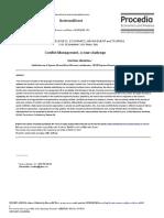 Conflict Management, A New Challenge.id.En