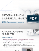 PROGRAMMING & NUMERICAL ANALYSIS Lecture 11
