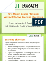 Writing Objectives Web