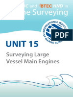 Surveying Large Vessel Main Engine