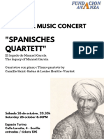 Programa de Mano Spanisches Quartett