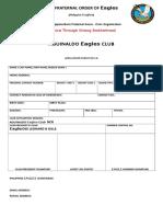 EAGLES Application Form