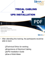 Electrical Cabling & UPS Installation