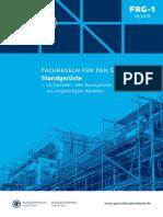 FRG 1 Fachregeln Für Den Gerüstbau Standgerüste
