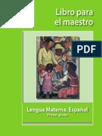 Lengua Materna Libro Maestro 1º