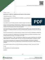 Decreto 717/2019 sobre el cronograma de feriados 2020