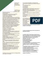 Revisão de Geografia II  7 º Ano- Prof. Adão Marcos