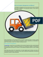 How Transportation and Logistics Management are Different?