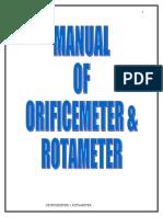 4-Orifice Meter and Rotameter